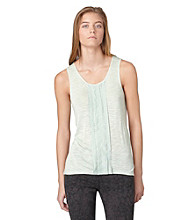 Calvin Klein Jeans Slub Tank with Woven Pleating
