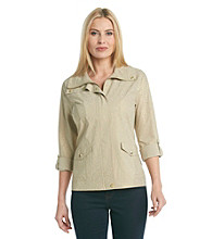 Laura Ashley Foil Animal Weekend Jacket