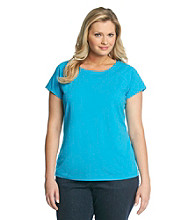 Laura Ashley Plus Size Ballet Neck Tee