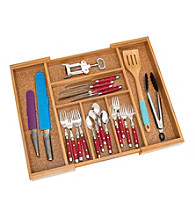 Lipper International Expandable Bamboo Flatware Organizer