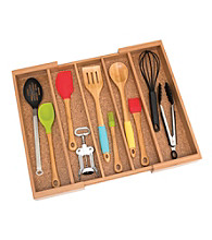 Lipper International Expandable Bamboo Utensil Organizer
