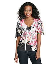 Oneworld® Petites' Butterfly Top