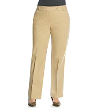 Jones New York Sport Plus Size Twill Extend Tab Pant