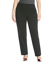 Jones New York Signature Plus Size Side Zip Slim Pant