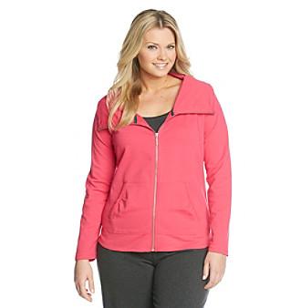 Calvin Klein Performance Plus Size Funnelneck Jacket