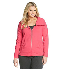 Calvin Klein Performance Plus Size Funnelneck Jacket