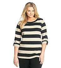 Calvin Klein Performance Plus Size Rugby Stripe Pullover