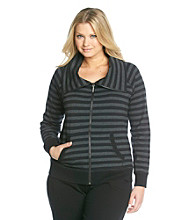 Calvin Klein Performance Plus Size Funnel Neck Jacket