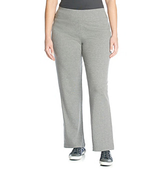 Jones New York Sport Plus Size Bootcut Pant with Rib Trim