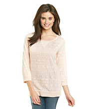 Ruff Hewn Banded-Bottom Burnout Geo Tee