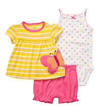 Carter's® Baby Girls' Yellow/Pink 3-pc. Butterfly Set