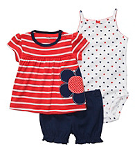 Carter's® Baby Girls' Red/Navy 3-pc. Flower Set