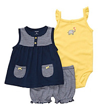Carter's® Baby Girls' Navy 3-pc. Striped Set