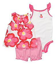 Carter's® Baby Girls' Pink 3-pc. Floral Print Set