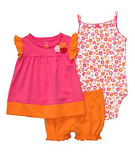 Carter's® Baby Girls' Pink/Orange 3-pc. Floral Set