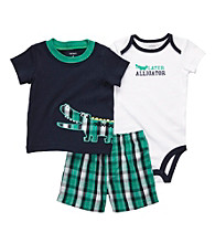 Carter's® Baby Boys' Navy/Green Plaid 3-pc. Aligator Set