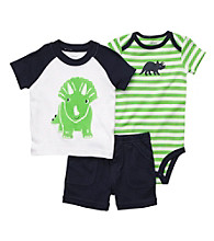 Carter's® Baby Boys' Navy/Green 3-pc. Dino Set