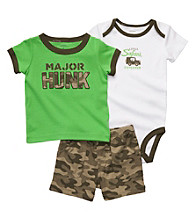 Carter's® Baby Boys' Green Camo 3-pc. Major Hunk Set