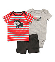 Carter's® Baby Boys' Red Striped 3-pc. Dog Set
