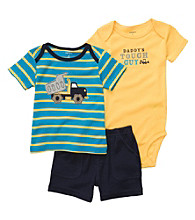 Carter's® Baby Boys' Blue/Yellow Striped 3-pc. Dump Truck Set