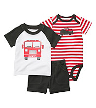 Carter's® Baby Boys' Red Striped 3-pc. Fire Truck Set