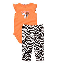 Carter's® Baby Girls' Orange/Black 2-pc. Zebra Print Set