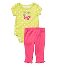 Carter's® Baby Girls' Green/Pink 2-pc. Butterfly Set