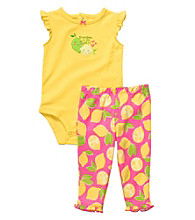 Carter's® Baby Girls' Yellow/Pink 2-pc. Fruit Pants Set