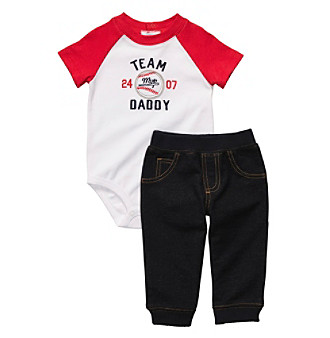 Carter's® Baby Boys' White/Red 2-pc. Daddy's Team Set