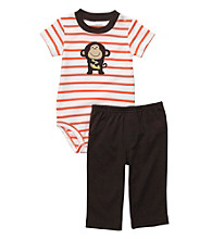 Carter's® Baby Boys' Orange/Brown 2-pc. Monkey Set