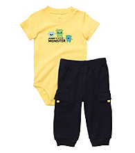 Carter's® Baby Boys' Yellow/Navy 2-pc. Monster Set