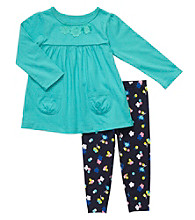 Carter's® Baby Girls' Teal/Navy 2-pc. Knit Pants Set