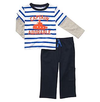 Carter's® Baby Boys' Blue/White Striped 2-pc. Boat Set