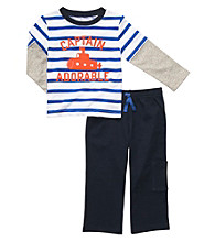 Carter's® Baby Boys' Blue/White Striped 2-pc. Boat Set