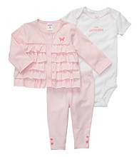 Carter's® Baby Girls' Pink 3-pc. Cardigan Set