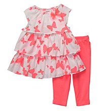 Carter's® Baby Girls' Pink 2-pc. Tiered Butterfly Set