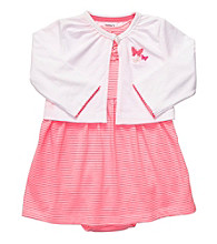 Carter's® Baby Girls' Pink Striped 2-pc. Butterfly Dress Set