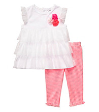 Carter's® Baby Girls' White/Pink 2-pc. Ruffle Top Set