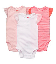 Carter's® Baby Girls' Pink 3-pk. Striped/Solid Bodysuits
