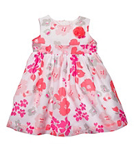Carter's® Baby Girls' White/Pink Floral Party Dress