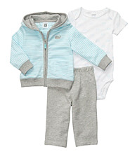 Carter's® Baby Boys' Blue/Grey 3-pc. Striped Hoodie Set