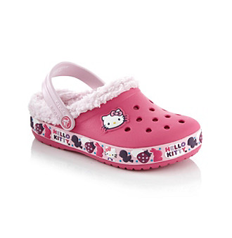 "Crocs™ Girls' ""Hello Kitty® Birds & Bunnies"" Shoe - Fuchsia/Bubblegum"