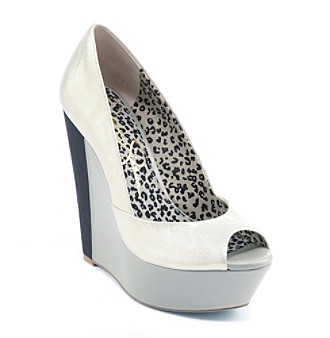 "Jessica Simpson ""Leelo"" Peep-toe Wedge Pump"
