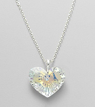 L&J Accessories Swarovski® Clear AB Heart Pendant
