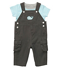 Carter's® Baby Boys' Charcoal/Blue 2-pc. Overall Set