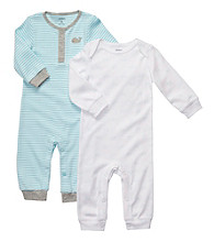Carter's® Baby Boys' Blue/White 2-pk. Coverall Set