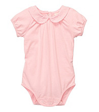 OshKosh B'Gosh® Baby Girls' Pink Woven Collar Bodysuit
