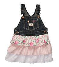 OshKosh B'Gosh® Baby Girls' Denim/Pink Print Multi Tier Jumper