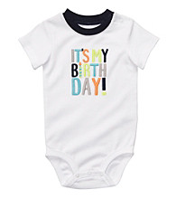 Carter's® Baby Boys' White Birthday Bodysuit
