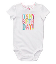 Carter's® Baby Girls' White Birthday Bodysuit